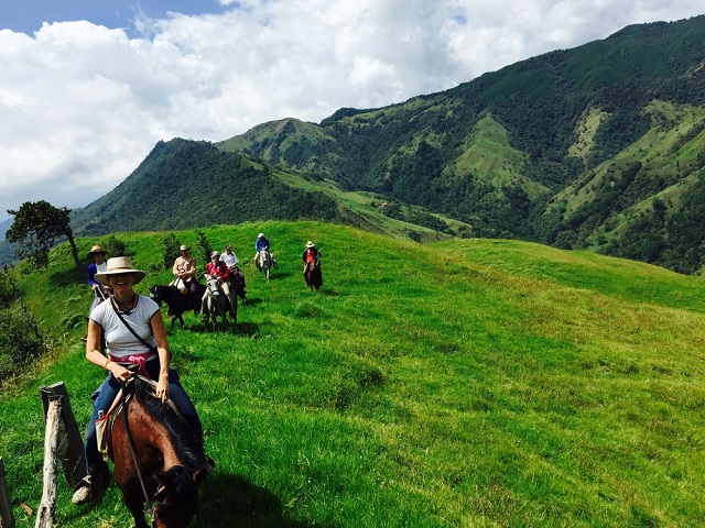Cabalgata en Salento, Quindío Colombia