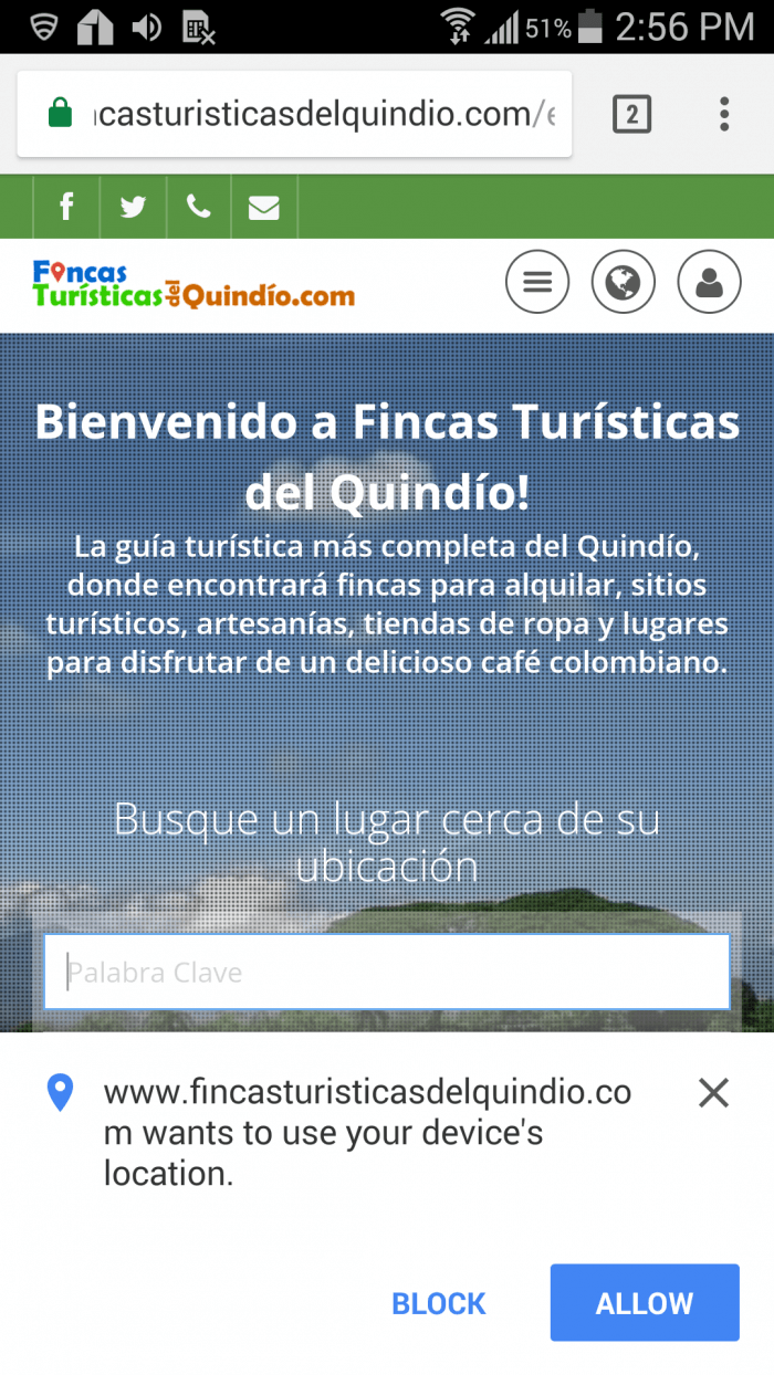 Tourist guide with location of places and tourist sites to visit